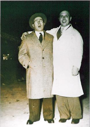 """1957 - """"Pich-pin"""" et le président Ernest Larcin"""