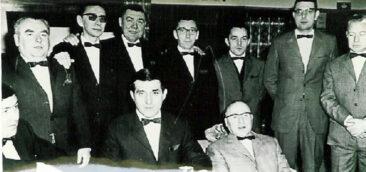 1970 - Le comité au bal de Noël