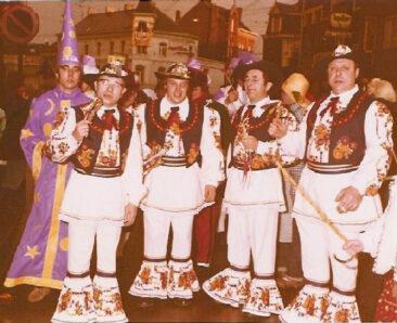 1970 - Francis Duquesne, Gilbert Drugmand, Jean-Pierre Peetrons, Marcel Peteau et Nestor Peetrons