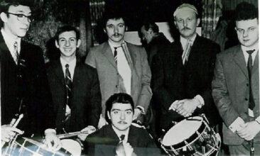 1970 - Une partie de la batterie au bal de Noël