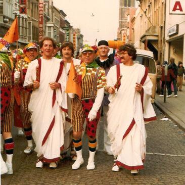 1982 - Mardi, Arsene Barras, Léon Bande, Claude Robiette, Jules Outelet, François Burion et Raymond Honore