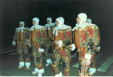 1991 - Ramassage le dimanche matin, Jean-Marie Hautier, Philippe Mansy, Dominique Kaldi, Victor Larcin et Didier Demarbaix