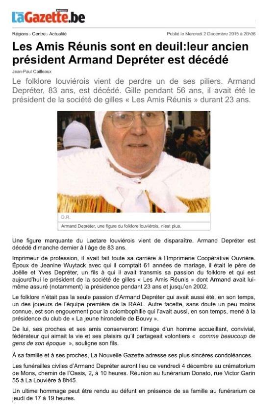 20151202 Nouvelle Gazette